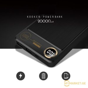 Remax Power bank - 20 000 (რეალური ამპერი)